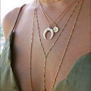 Jewelry - NWT Boho Ivory Crecsent Moon Layering Necklace
